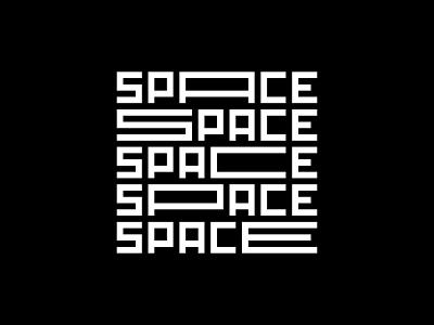 Space Type typedesign vector minimal minimalist illustration typeface type space design minimalism typography
