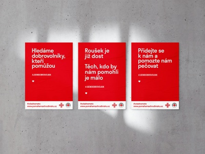 Posters for Czech Red Cross minimalist typography simple posters poster art poster design minimalism