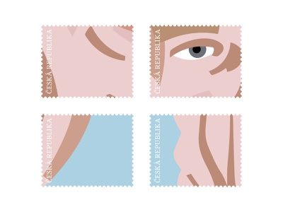 Postage Stamp Design – Václav Havel postage minimalist portrait illustraion stamp design stamps postage stamp stamp simple minimal design