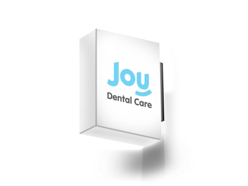 Joy Dental Care logos logodesign logotype flat art branding brand illustrator brand identity minimalist logo design typography simple minimal logo design minimalism