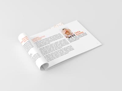 Minimal brochure design for conference