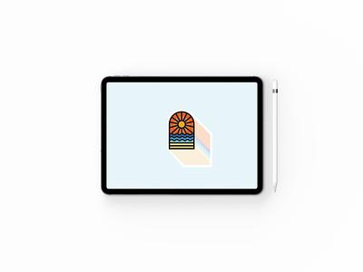 Summertime badges creative symbol mark summer adventure badge brand illustration logo design minimal minimalism