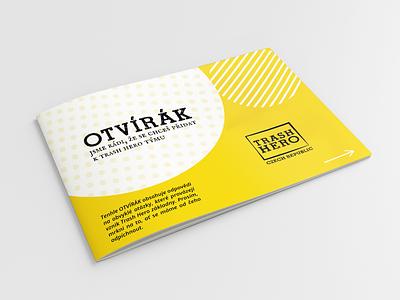 Trash Hero brand designer print brochure design brochure brand identity simple minimal minimalism