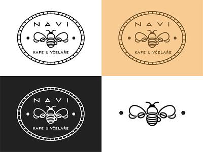 Beekeeper's Coffee logo design illustration simple illustrator graphic design vector minimalism minimalist typography minimal branding responsive branding lineart logo