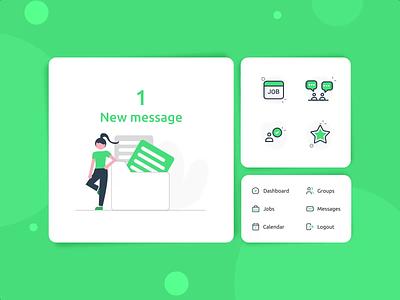 RecApp elements product design app illustration after effect graphic design card ui web uiux