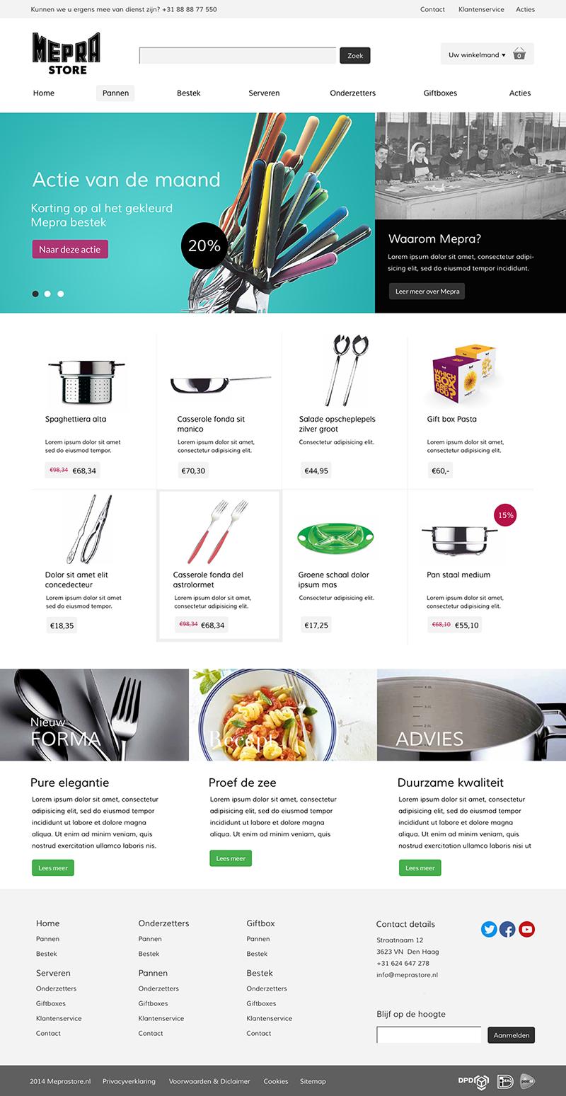 Homepage meprastore wit