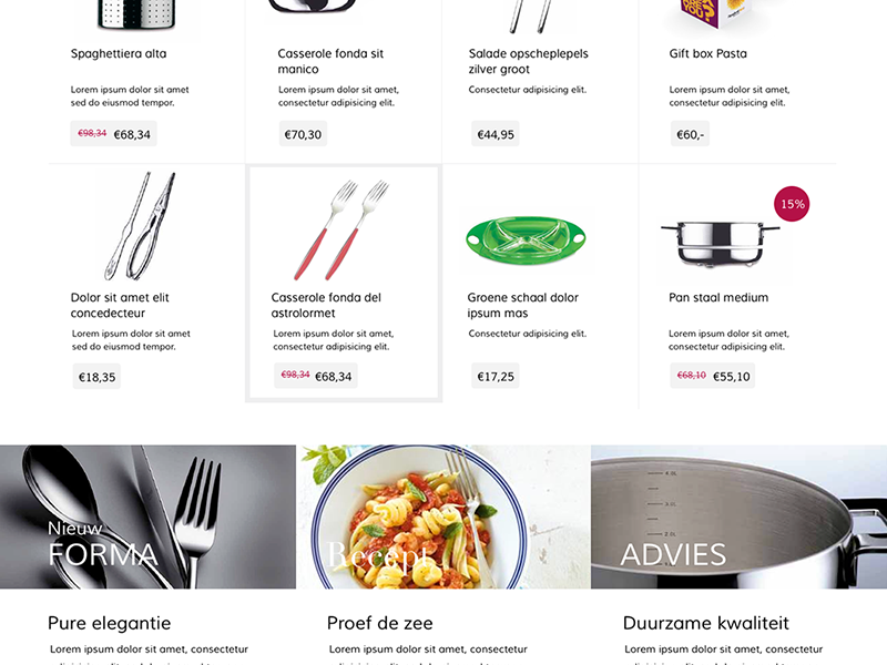 Mepra Store webshop magento kitchen products productpage