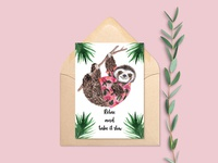 Sloth - Greeting Card