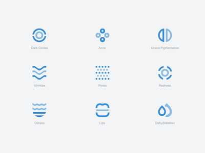 My Skin Fitness - Category Icons abstract category icon skin skincare health graph beauty artificial intelligence sketch product design mobile ui medical ios interaction cosmetic clean app analytics ai