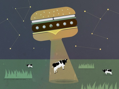 Burgerliens burger funny illustration textures