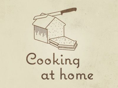 Logo idea food bread stroke logo