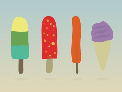 Ice-cream (99 days till summer) summer ice cream illustration project vector flat