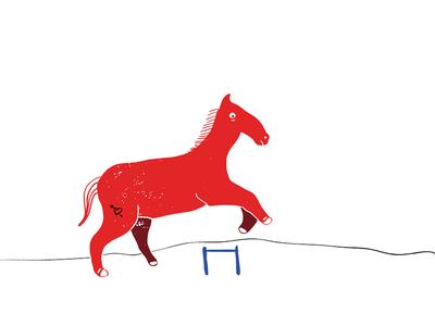 Horse tattoo illustration riso horse