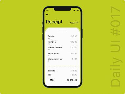 DailyUI 017 apple daily phone design shopping mobile dailyuichallenge ui receipt 2021 design dailyui