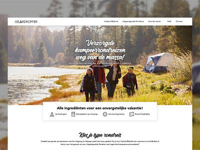 Geardropper - Travel Website - Webflow covid-19 travel agency camping travel clean responsive ux web design webflow