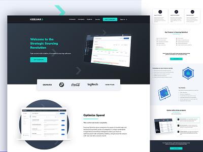 Strategic Sourcing Software responsive design ux webflow software website clean web design saas website saas design saas