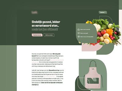 Health Food App - Landing Page uxdesign clean responsive website ux webflow web design food app food