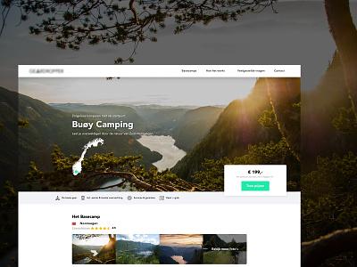 Geardropper - Camping Website - Webflow website clean camping travelling travel web design ux responsive webflow