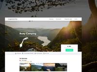 Geardropper - Camping Website - Webflow