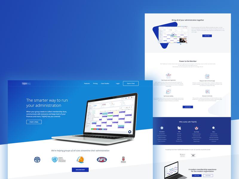 Software Landing Page Design clean website web design responsive software uxdesign ux webflow