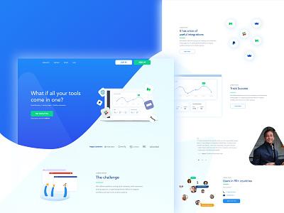 Clean Software Website - Webflow blue uxdesign software website web design ux responsive clean webflow
