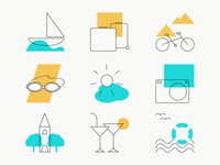 Summer Holidays Icons