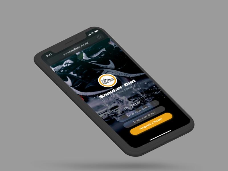 Sneaker Con Landing Page web design daily ui 003 ui