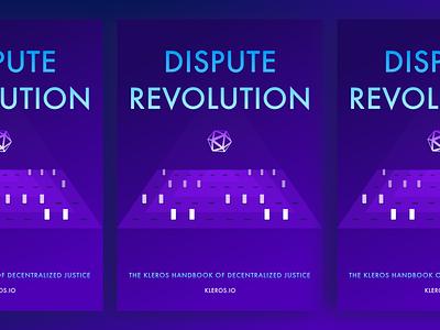 Dispute Revolution book cover book cover book blockchain branding logo vector design illustration