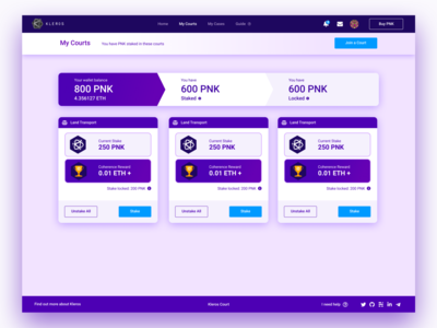Kleros Court DApp - My Courts page