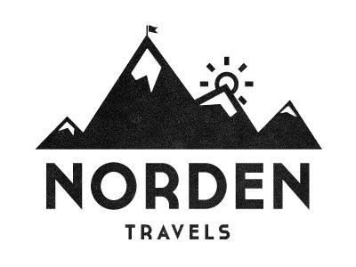 Norden Logo logo mountains texture minimalist graphic identity monochrome typography travel