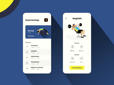 Workout App Design