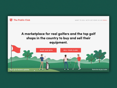 Golf Startup Hero Graphic