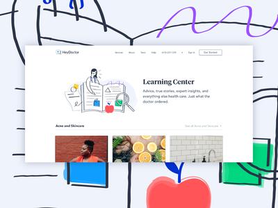Heydoctor Learning Center Illustration