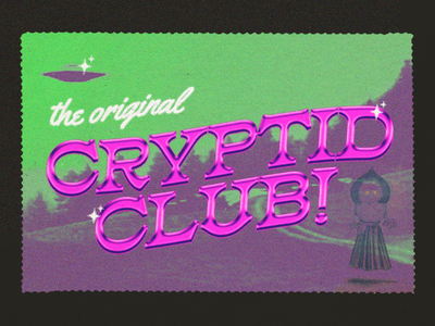 Daily Design #13 supernatural aliens cryptids retro design vintage design postcard branding design graphic design