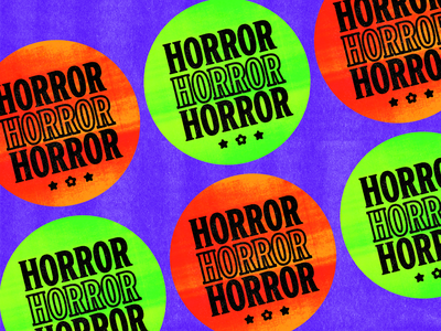 Horror VHS Sticker stickers sticker design horror horror movies typography type design graphic design