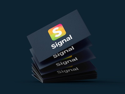 Signal Business Cards business cards corporate identity icon vector design brand typography logo design brand identity branding logo