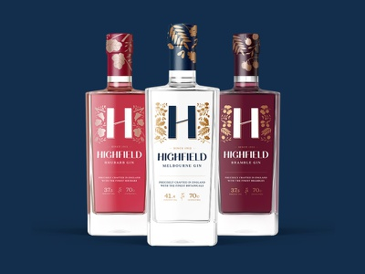 Highfield Gin Packaging & Branding ginbrand packaging bottle label bottle design gin logo packagingdesign branding