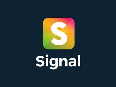 Signal Logo Design corporate design colourful gradient lockup typography design branding brand identity brand design brand logo design logo