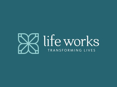 Life Works Logo vector icon typography design logo design brand identity branding logo
