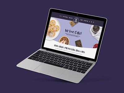 We Love Cake Website Design typography packaging logo design design brand logo brand identity branding web design website