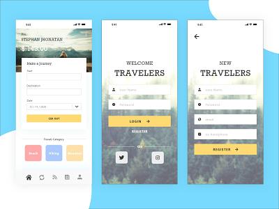 The Travelers - UI/ UX Mobile ux ui flat web typography ui  ux ui ux web design web app mobile design mobile app mobile ui webdesign design