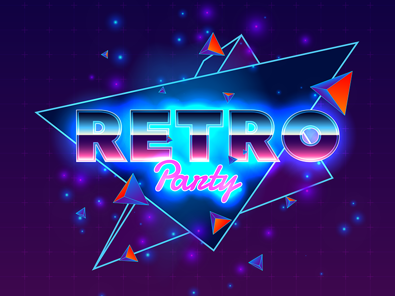 Retro party by Pavel | Dribbble | Dribbble