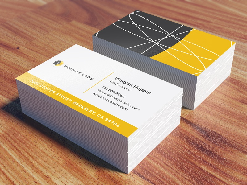 Vernox Business Cards by Jenny Leddy - Dribbble
