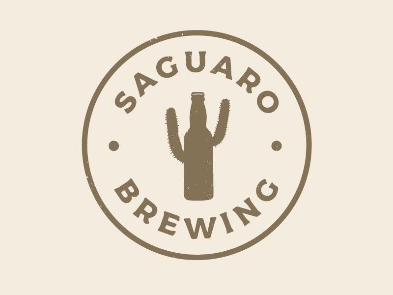 Saguaro Brewing badge design illustration graphic design arizona