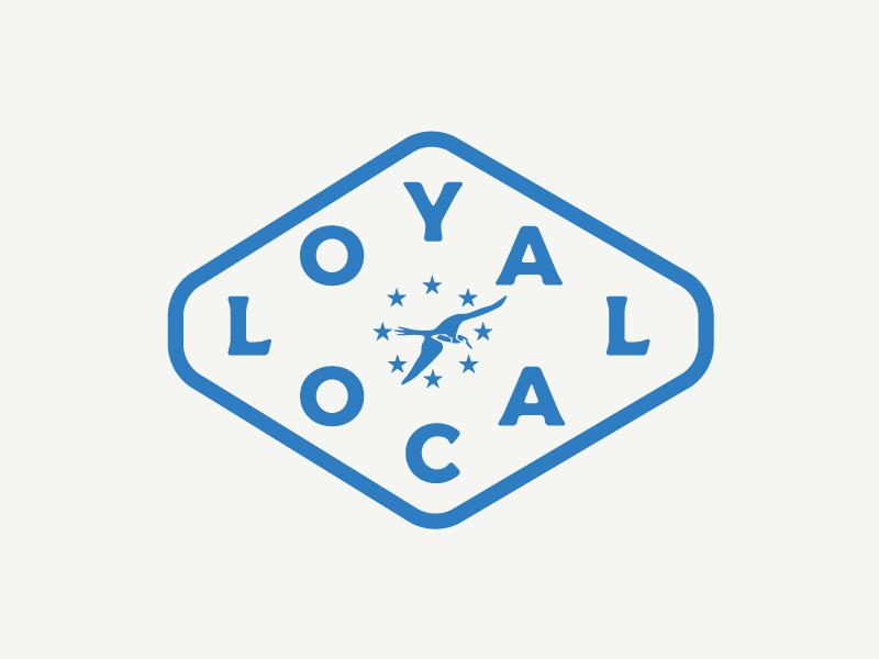 Loyal Local logo design identity branding illustration graphic design