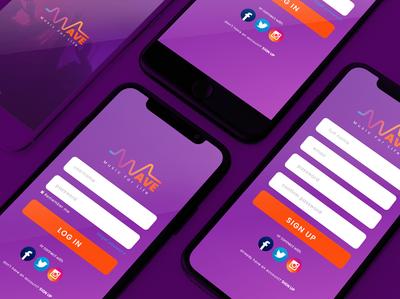 Mobile Apps Design - Wave music