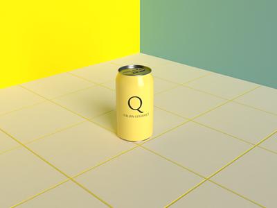 3D can branding design adobe dimension 3d