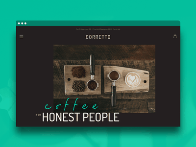 Corretto Coffee sketch layout branding design webdesign website