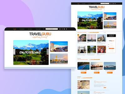 Travel website clean ui blogging website design travel design ui manipulation photoshop booking