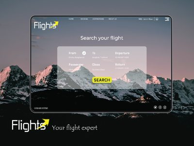 Flight booking booking app graphic design advertising booking illustration branding ui design website banner flight app flight booking